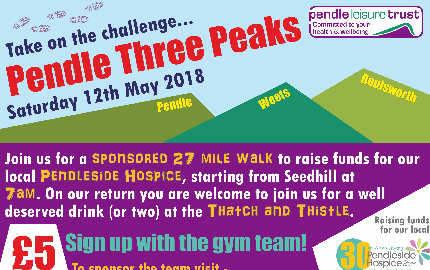 Pendle Leisure Trust Staff & Members to Take on Pendle 3 Peaks