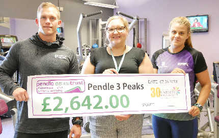 Pendle Leisure Trust Raises over £2,000 for Pendleside Hospice